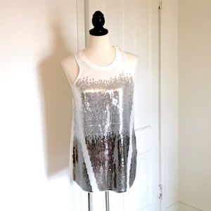 Ombre Silver-Toned Tank Top w/ Tags.